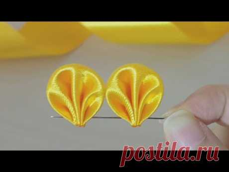 Amazing Ribbon Flower Work - Hand Embroidery Flowers Design - Sewing Hacks - DIY Easy Flower Making
