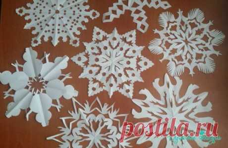 Красивые снежинки, вырезанные из бумаги / Домоседы