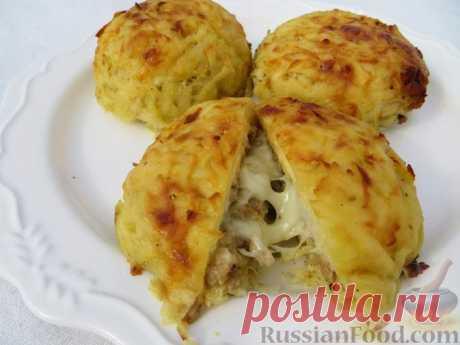 Запечённое мясо в картофельной шубке😋