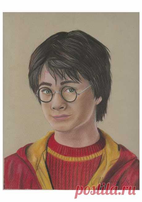 Harry Potter Drawing Print A4 CMcSparronArt | Etsy