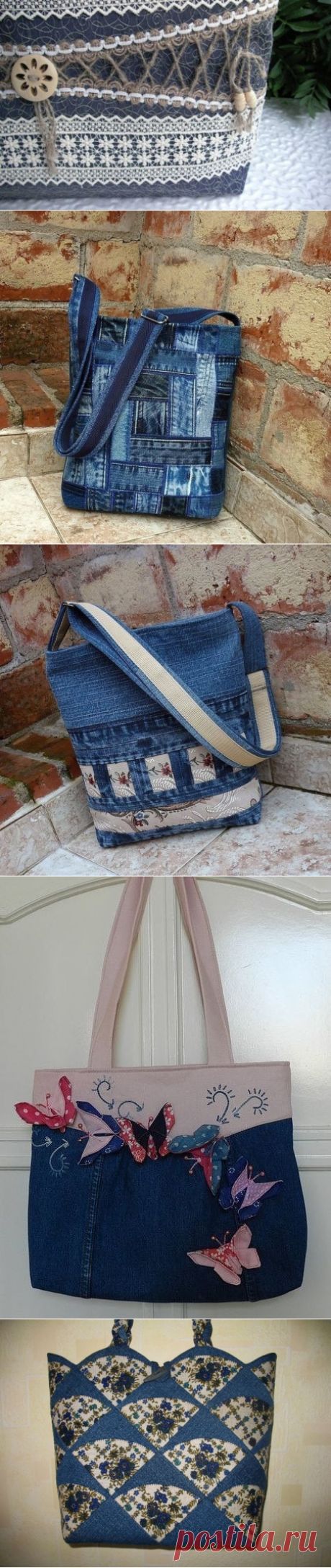 Jeans handbags the hands — ideas for inspiration
