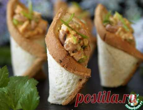 Тарталетки с салатом из фасоли – кулинарный рецепт