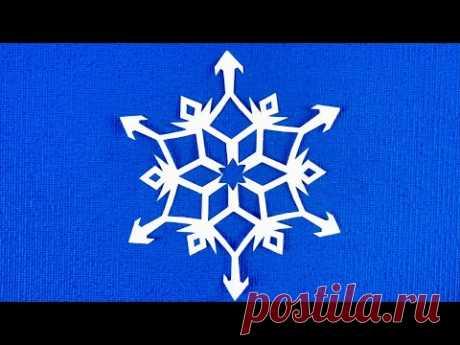 Нежная хрустальная снежинка из бумаги Paper Snowflake