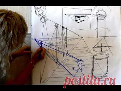 Основы построения и перспективы. Ольга Базанова - YouTube