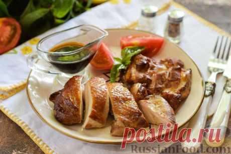 Курица, копченная на сковороде с чаем