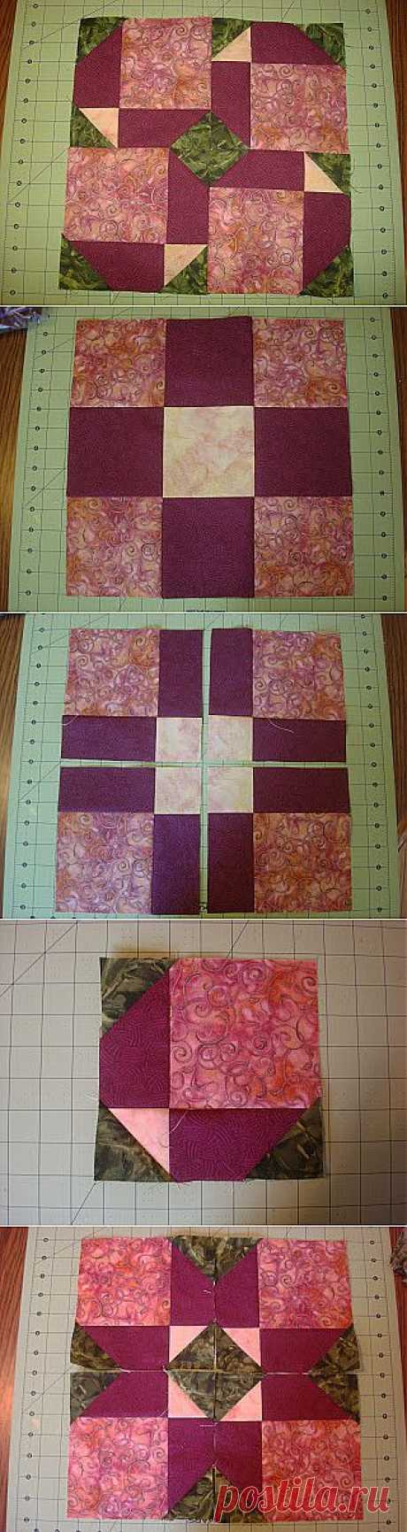 Little Bunny Quilts: Scrap Block Challenge: Garden Disappearing Nine Patch Tutorial