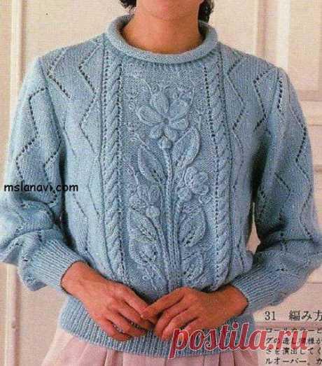 Вязаные пуловеры с цветами - Вяжем с Лана Ви Если вам нравится цветочная тематика, то 3 модели ниже должны вдохновить вас на создание чего-то подобного. Связать свое изделие с представленными вязаными цветами или целым букетом из цветов. Я подобрала два пуловера и жакет; они очень разные, но по-своему интересны. С каждым из пуловеров можно моделировать, и придумать оригинальное изделие, в котором вас уж точно […]