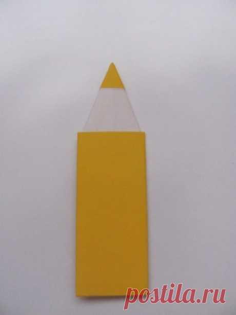 """Поделка из бумаги своими руками (оригами) - """"Цветной карандаш"""" — Вектор-успеха.рф"""