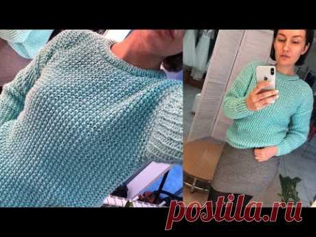 Простейший свитер жемчужным узором из мериноса