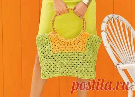 Модные и стильные сумки, связанные крючком (с описанием вязания) | Идеи рукоделия | Яндекс Дзен