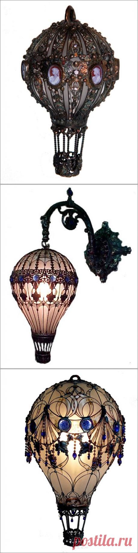 Воздушные шары от Michael Wiegand-что можно сделать из старых лампочек!!