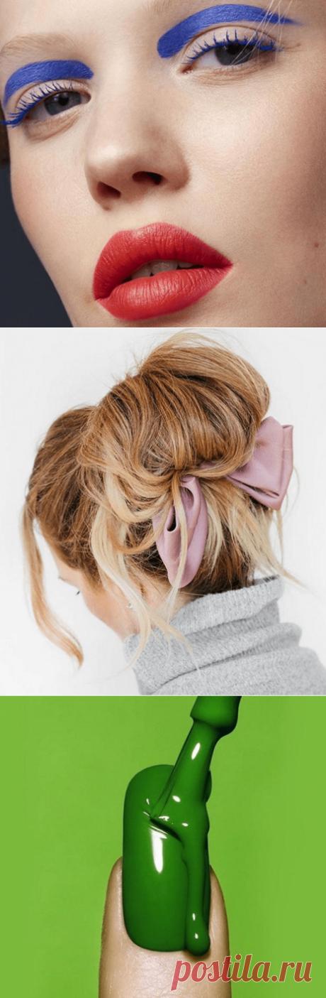 Аксессуары для волос в стиле ретро, цветная тушь и зеленые лаки для ногтей   Мир вокруг женщин