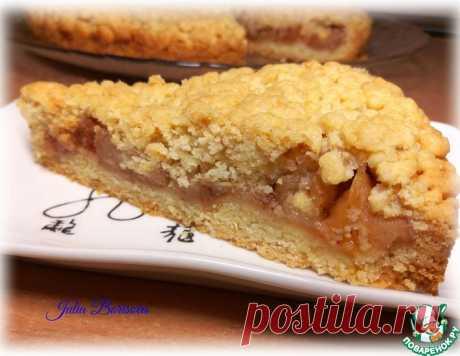 Тёртый пирог с фруктами – кулинарный рецепт
