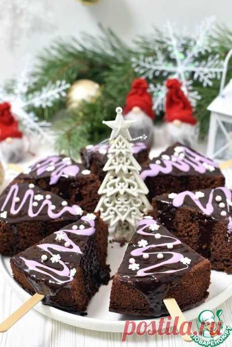 """Новогодние брауни """"И вот она, нарядная..."""" – кулинарный рецепт"""