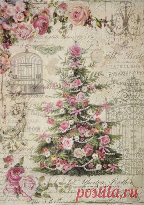 £1.9 GBP - Rice Paper For Decoupage Decopatch Scrapbook Craft Sheet Sweet Christmas Tree #ebay #Home & Garden