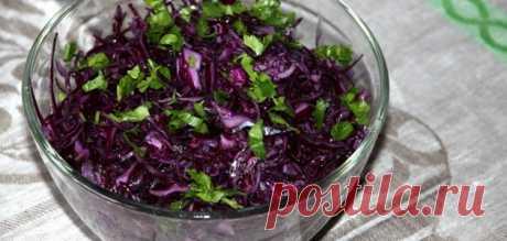Салат-пикник из красной капусты с соусом анчоад – Вся Соль - кулинарный блог Ольги Баклановой