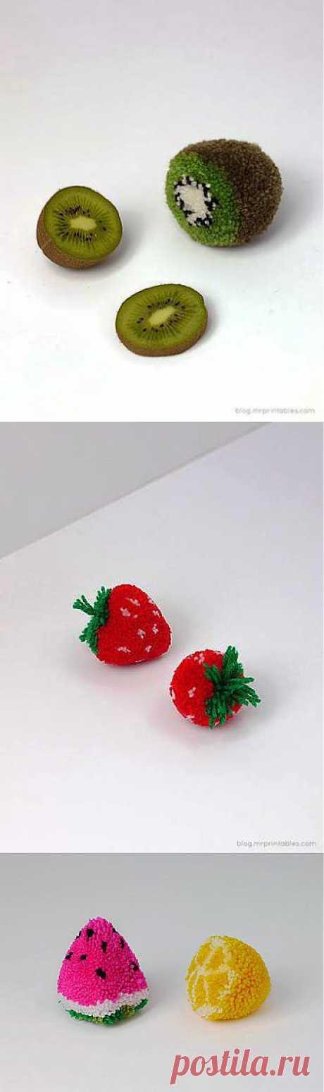 Вкусные помпончики - Ярмарка Мастеров - ручная работа, handmade