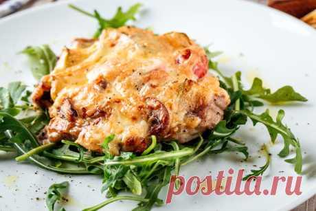Мясо по-французски с грибами и сыром рецепт с фото пошагово