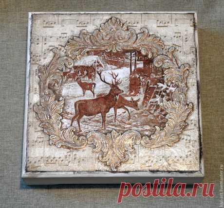 Декорируем чайную коробку «В старом шале» - Ярмарка Мастеров - ручная работа, handmade