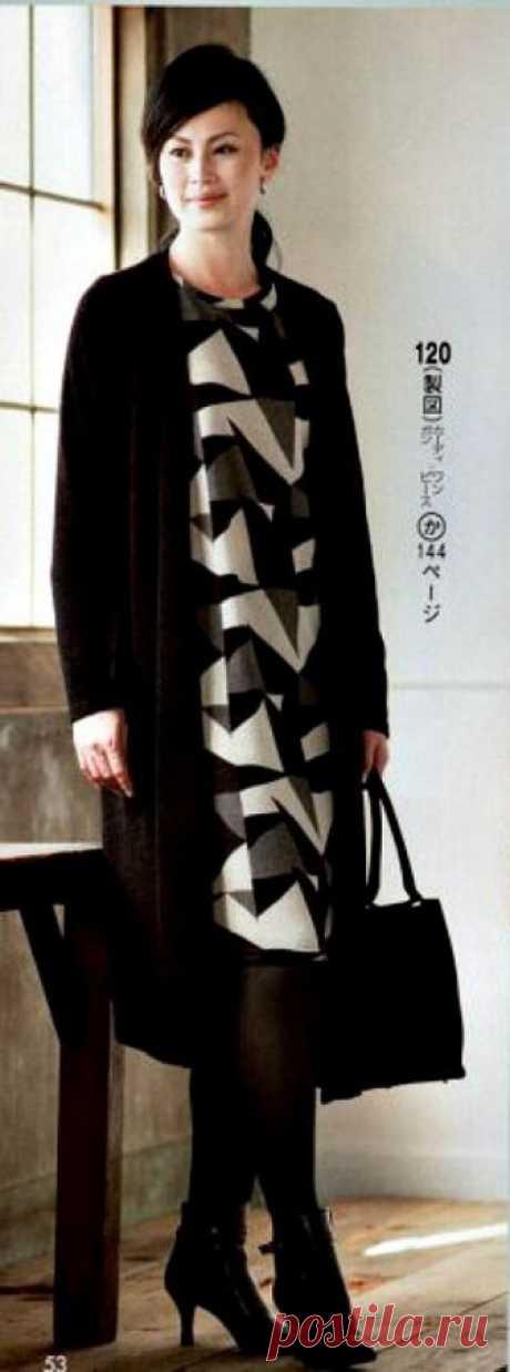 2 японские выкройки - кардиган и блузка Модная одежда и дизайн интерьера своими руками