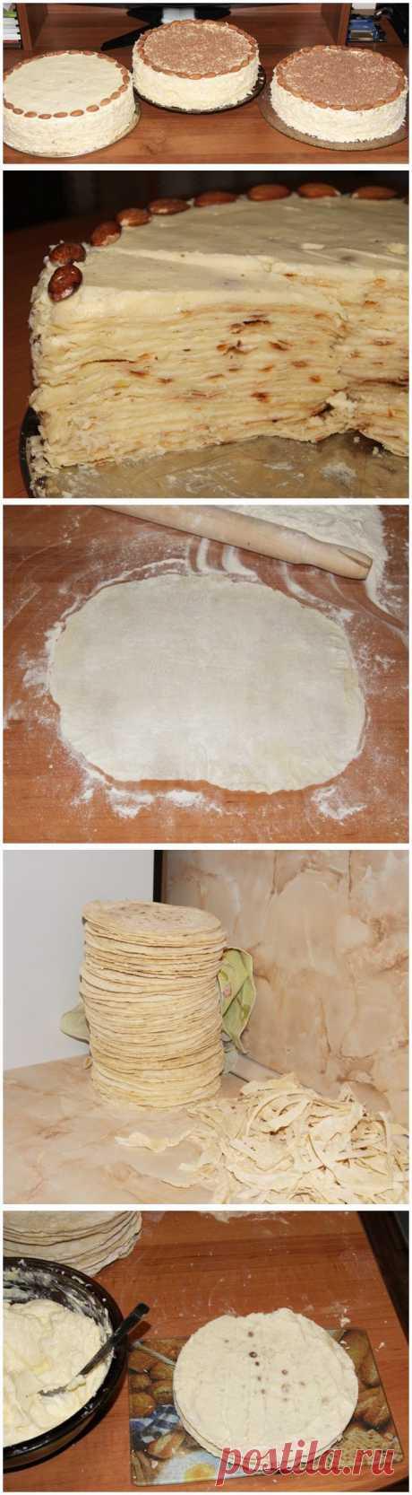 """Торт """"Наполеон"""" (на сковороде)."""