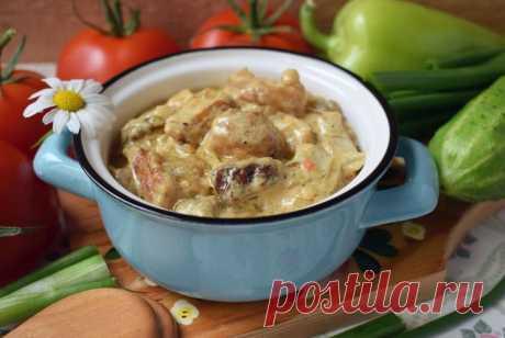 Белые грибы в сметане на сковороде: рецепт с фото