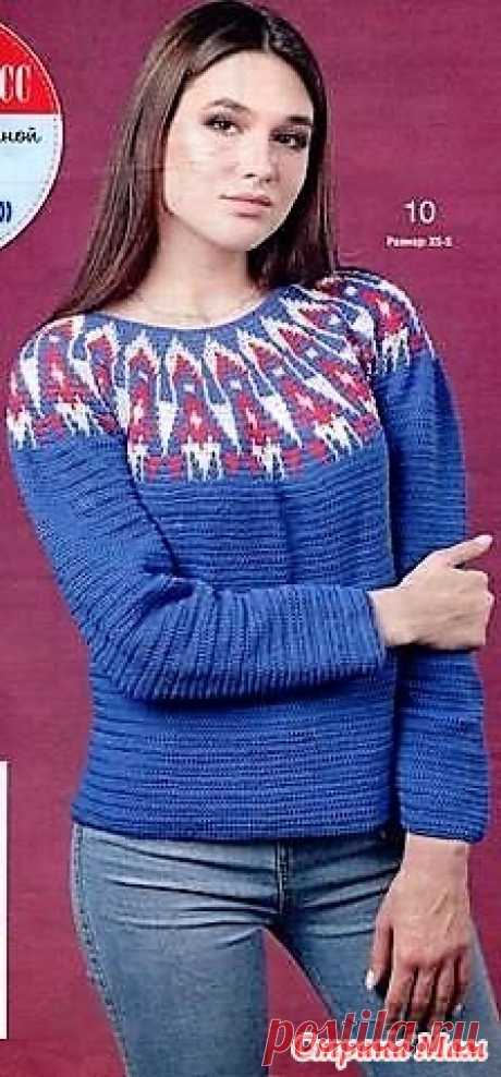 Пуловер лопапейса. Мастер класс от Елены Шкариной. Какая же зима без жаккардовых пуловеров и свитеров! Но не только классический Жаккард стал брендом в вязании. Must have в этом году - лопапейса!
