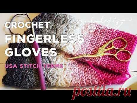 Fantail Shell Stitch Fingerless Gloves (free pattern) How to Crochet Tutorial   Cygnet Boho Spirit