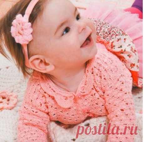 Кофта на пуговицах для малыша крючком | Моё хобби.Вязание для детей. | Яндекс Дзен
