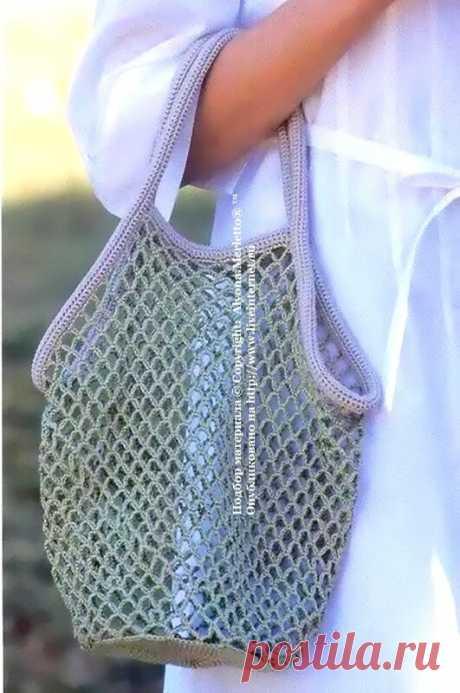 Сумка-авоська крючком ...от Let's knit (Япония)