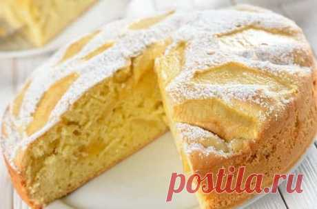 Быстрый яблочный пирог на кефире вкуснее шарлотки, а готовить легче | Юлия Высотская | Яндекс Дзен