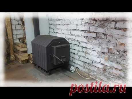 Печь (булерьян) в гараж из старой печки