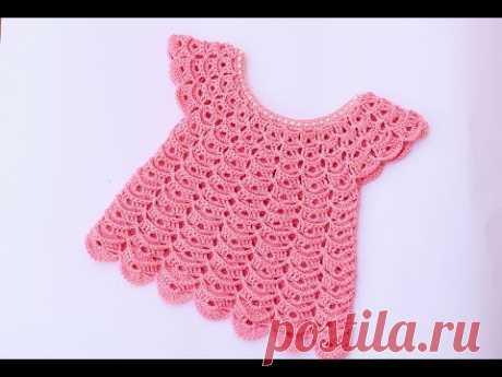 Vestido de niña 💖  a crochet muy facil y rapido
