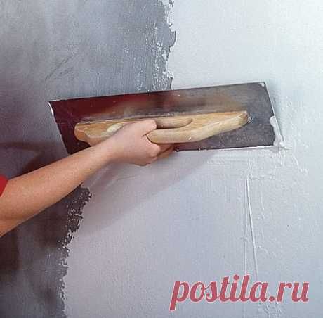 Hard putty of walls the hands - Homemade products