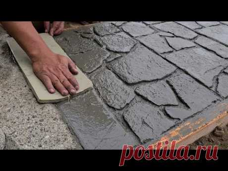 How to do a nice walkway, with our own molds
