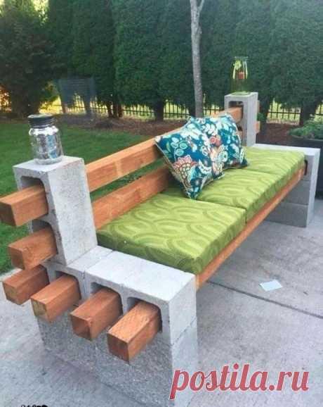 Отличная идея для скамейки