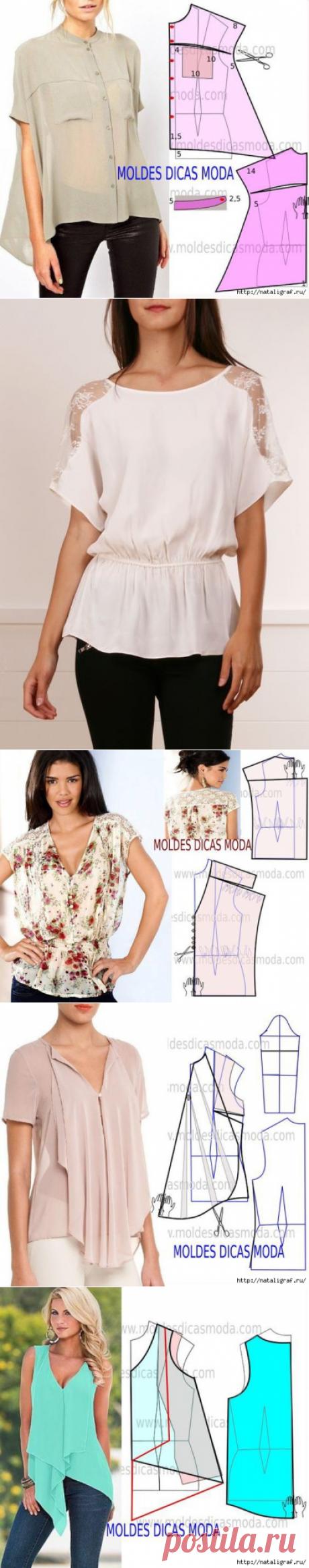 Блузки - летние, нарядные моделируем
