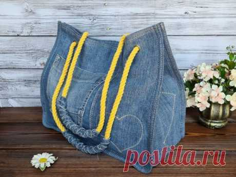 Мастер-класс : Сумка из джинсов | Журнал Ярмарки Мастеров