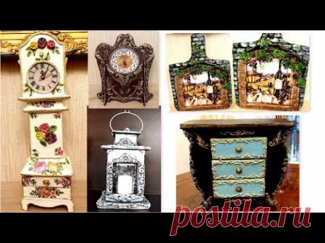 DIY /5 Amazing  projects from Recycled Cardboard/Home Decor
