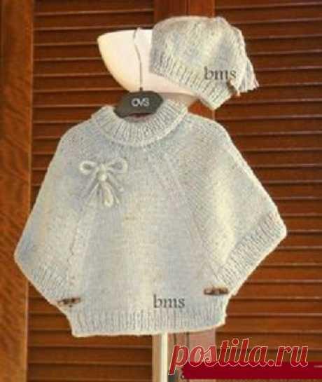 Пончо - пуловер.