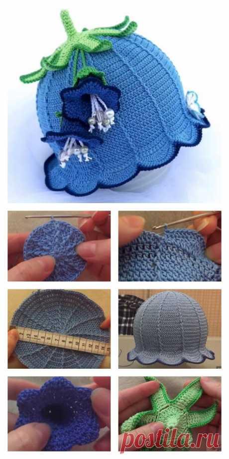 Как вязать крючком Bluebell Baby Hat #freecrochetpatterns - Favland.org