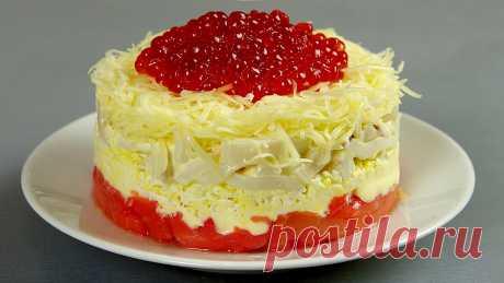 """Салат """"Сытый боцман"""" на богатый праздничный стол (обязательно его готовлю на Новый год)   Кухня наизнанку   Яндекс Дзен"""