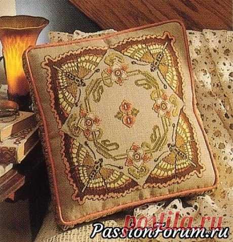 Шикарная схемка для вышивки подушечки! | Схемы вышивки крестом, вышивка крестиком