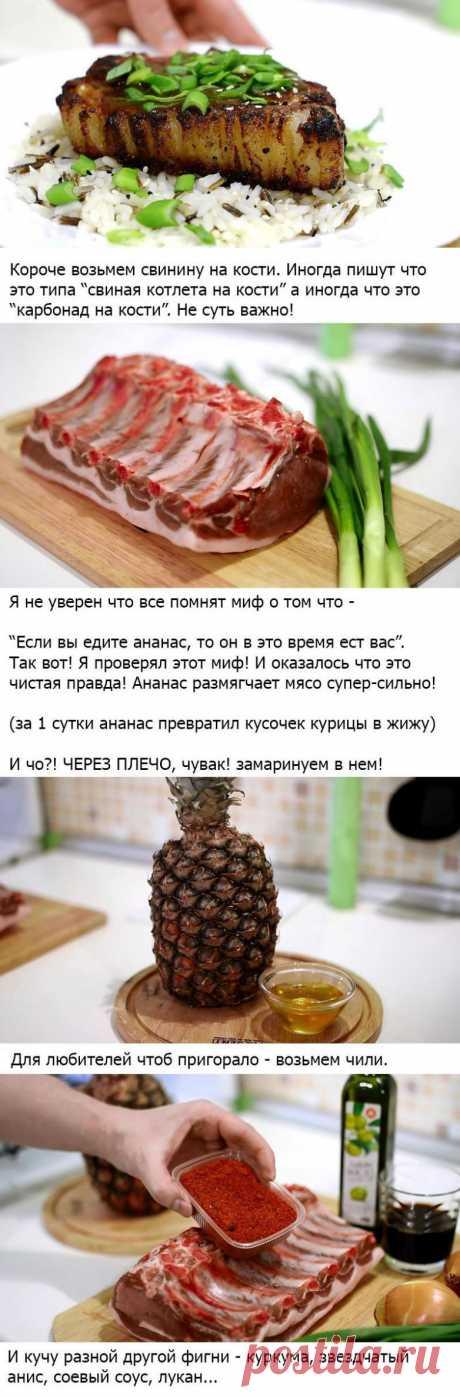 Свиные котлеты с пряным соусом