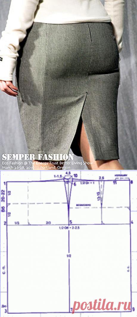 Выкройки больших размеров. Юбка для полных женщин.   Как переделать основную выкройку юбки в выкройку больших размеров.