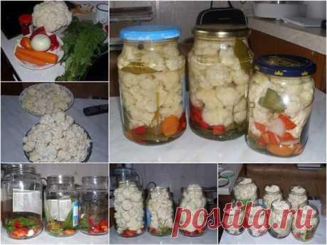 Маринованная цветная капуста по особенному рецепту По этому рецепту я делаю капусту очень давно и всегда она расходится...