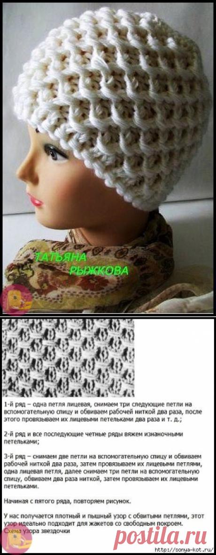 Невероятной красоты тепленькая вязаная шапочка — Сделай сам, идеи для творчества - DIY Ideas
