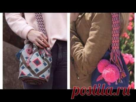 Яркие вязаные сумки Wayuu mochila