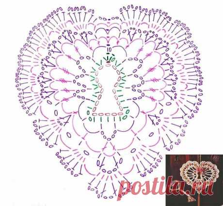 Вязаные сердечки крючком - схемы и описание
