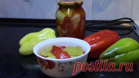 Перец маринованный в масле очень вкусное дополнение к самым разным блюдам ! Однажды приготовив перец маринованный в масле вы влюбитесь в него навсегда ! На м...
